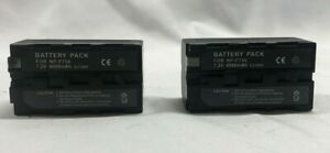 2-Pack 4000mAh 7.2V Replacement Battery for Sony NP-F750 Camera