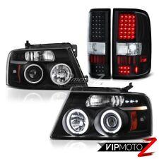 04-08 F150 FORD CCFL PKG Halo Angel Eye Headlights+LED Rear Tail Lights Lamp SET
