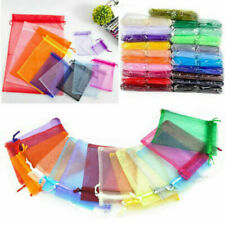 Organza Wedding Bags Xmas Party Gift Candy Jewelry Bag Net Mesh Colors Pouches