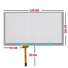 6.1inch Resistive Touch screen Digitizer glass For GPS CLAA061LA0ACW 149*83mm