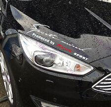 ☆ nouveau ☆ phare sourcils stickers voiture autocollants graphique vinyle pour ford focus (blanc)