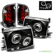 For 97-00 Tacoma Black Halo Pro Headlights w/LED + Altezza Style Tail Lights