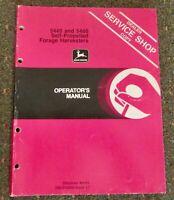 John Deere 5440 - 5460 Self-Propelled Forage Harvesters Operator's Manual