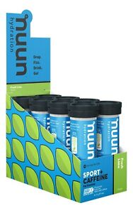 NUUN HYDRATION SPORT + CAFFEINE TABLETS X 8 FRESH LIME - BB 06/21 SAVE 50%