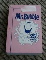 MR. BUBBLE 25TH BIRTHDAY LOGO poker playing card set FACTORY SEALED BRAND NEW