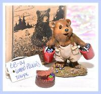 ❤️Wee Forest Folk BB-04 Good Pickin's Blueberry Bear Box Retired WFF 1995 BB-4❤️