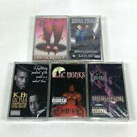 Lot 5 Cassette Tapes Houston TEXAS H-Town Rap 90's Early 2000 Hip Hop Blac Monks