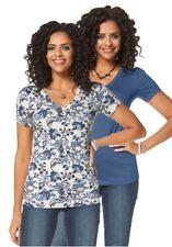 Boysen's 2er Pack Shirt weiß-blau+ blau- Gr. 38 - Neu