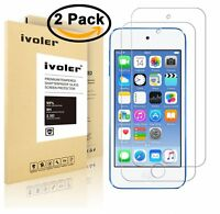 ivoler [2 Pack] [Tempered Glass] Screen Protector for iPod Touch 6G (6th