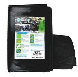 Swell UK Pond Liner with Free Pond Underlay and 40 year guarantee - 4 x 3m