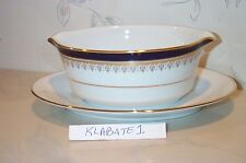 NEW Noritake GRAND MONARCH Gravy Boat with Attached Liner (plate) - NEW IN BOX
