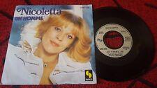 """NICOLETTA  **Un Homme / Tes Yeux D'Ange Heureux** ORIGINAL France 7"""" SINGLE 1979"""