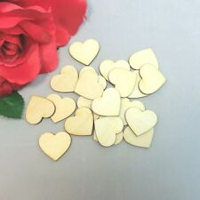 20 Pieces Wooden Hearts 3cm made of wood Deco Wedding Decoration