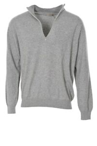 Cruciani Pullover Men's 50 Gray Cashmere   knitted