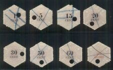 NETHERLANDS Telegraph stamps, 8 diff values, used, NVPH cat $185.00
