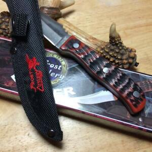 """Frost Badger Delrin 7 1/4"""" Skinner Knife w/Nylon Sheath  F14717TPS"""