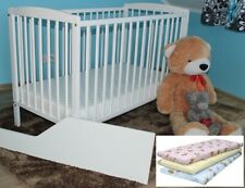 2in1 JASPER WHITE BABY COT / JUNIOR BED + FREE BARRIER + OPTIONAL MATTRESS