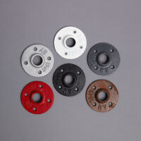 """Coloured Malleable Threaded Iron Flange Wall Mount 1/2"""" 3/4"""" 1"""" 1-1/4"""" 1-1/2, 2"""""""