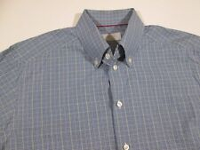 Eton Contemporary Long Sleeve Button Down Shirt Mens Size 16 Large Checkered
