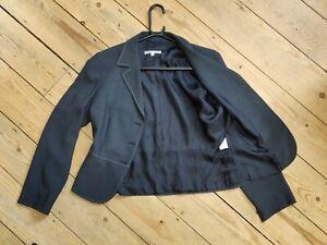 UK14 LK Bennett Grey semi-fit Jacket Blazer Women's 89% Virgin Wool 11%Viscose