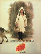 Publicité Advertising 107 1984   whisky Johnnie Walker red label