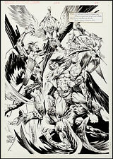 Savage Sword of Conan #228 Splash Art by Pablo Marcos Battle Art! Comic Art