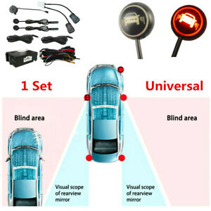 Newest Car Blind Spot Monitoring System Ultrasonic Sensor Distance Assist Black