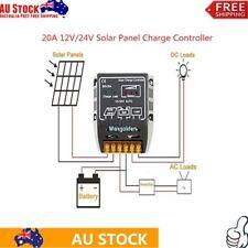 20A  Solar Panel Charge Controller Regulator 12V 24V Waterproof AU