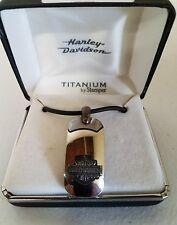 #185 NEW Harley-Davidson necklace, Titanium by Stamper