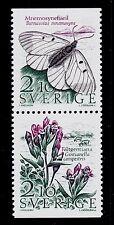 SWEDEN    SCOTT #1623-1624 MNH  BUTTERFLY & FLOWERS