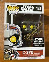 Anthony Daniels Signed Star Wars Unfinished C-3PO 181 Funko Pop - JSA NN49069