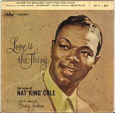 """NAT KING COLE """"LOVE IS THE THING"""" POP VOCAL JAZZ 50'S EP CAPITOL 2-824"""