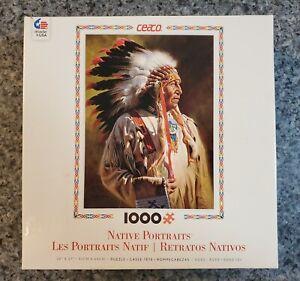 Ceaco Native Portraits PROFILE OF A CHIEF 1000 piece puzzle COMPLETE