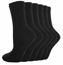 12 Pairs Mens Black Thermal Socks, Thick Warm Work Boot Socks Size 6-11 THERMOZZ