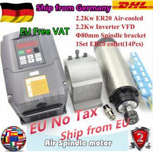 DE】2.2KW Fräsmotor Luftgekühlter Spindel ER20 frässpindel+ VFD Frequenzumrichter