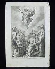 Ascension du christ gravure religieuse c1700 Pierre Mathieu OGIER (XVII-XVIII)