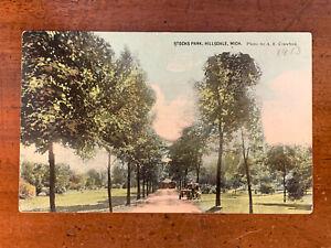 Michigan, MI, Hillsdale, Stocks Park and Old Car, PM 1913