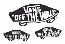 VANS STICKERS ~ THREE Snowboard Skateboard BMX Surf Decals   *** NEW ***