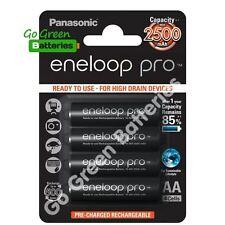 4 x Panasonic eneloop pro AA 2500 mAh Rechargeable Batteries ready NiMH, HR6