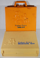 Set 1977 Fisher Price Medical & Tool Kits Childrens Vintage Toys