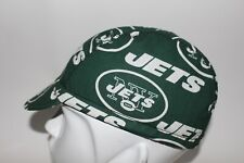 cycling cap NFL NEW YORK JETS handmade in USA  size  S/ M/L