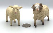 Safari Ltd Ewe & Ram White Sheep Lot of 2 Animal Farm Figures 1998