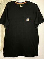 """Carhartt Men's T-Shirt L Tall Dark Gray Short Sleeve """"Relaxed Fit Force"""" 15-4"""