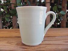 "Hand Spun~Pottery~Sea Foam Green~24 Ounce~5¾"" Coffee Mug~Unknown Artist~Heavy"