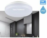 IP44 12W 18W ROUND LED CEILING WALL FITTING LIGHT KITCHEN BATHROOM DOWN LAMP