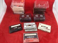 Audio Cassette Tapes 15 Lot Vintage TDK D-C120/D-C60/D90/D60, BASF LH-E I/Ferro+