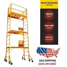 Scaffolding 18 Ft Baker / Perry Style W/Guard Rail &Outriggers Painting Drywall
