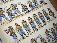 c1900 Paper Soldiers. Armée Francaise Francs-Tireurs (Sharp Shooters) Bretons