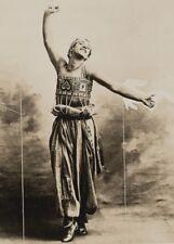 Nijinsky in role from 'Schéhérazade' in 1910, Vintage Ballet Poster
