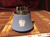 Vintage Blue Wedgewood Jasperware Chrome Cigarette Lighter England